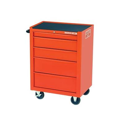 Bahco Orange 5 Drawer Tool Trolley With Inlays & Tools
