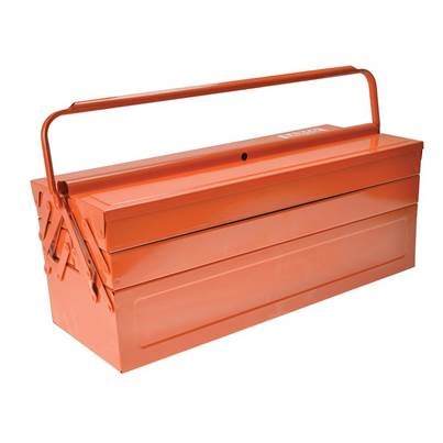 Bahco Orange Metal Cantilever Tool Box 21in