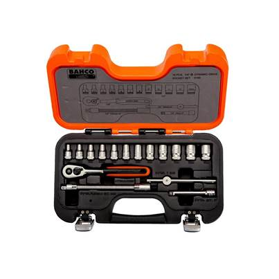 Bahco S160 Socket Set of 16 Metric & AF 1/4in Drive