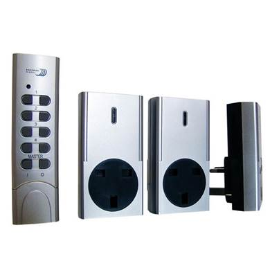 Byron Home Easy Remote Control 3 Pack Socket Kit