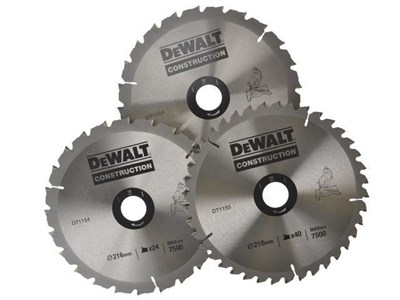 Image of Stationary Circular Saw Blade Set In Aluminium Case 216 x 30mm x 24/50T