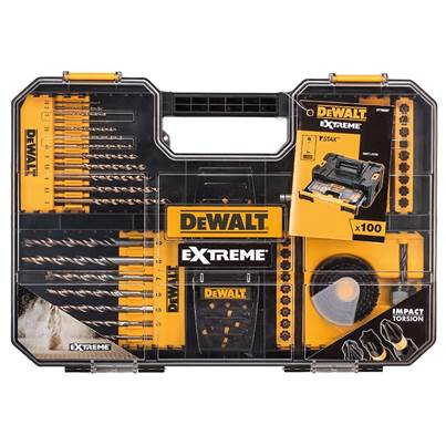 DEWALT Extreme Drill & SDS Set 100 Piece