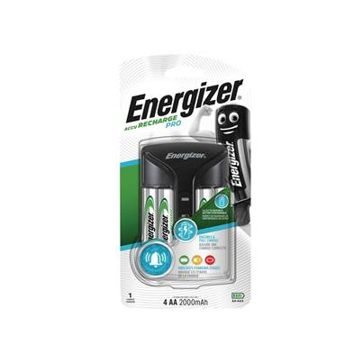 Energizer Pro Charger + 4AA 2000 mAh Batteries