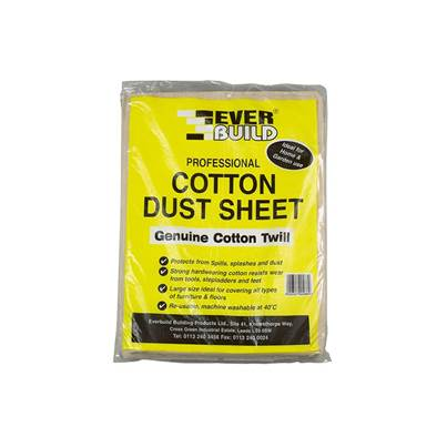 Everbuild Cotton Dust Sheet 3.6 x 2.7m