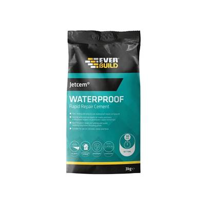 Everbuild Jetcem Water Proofing Rapid Set Cement (Single 3kg Pack)