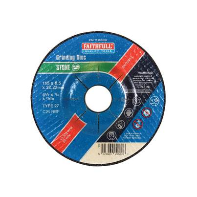 Faithfull Depressed Centre Stone Grinding Disc 115 x 6 x 22mm