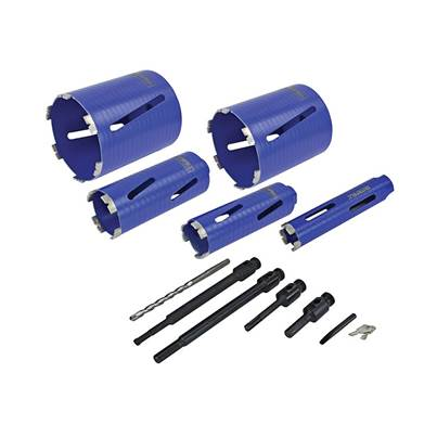 Faithfull Diamond Core Drill Kit & Case Set of 11