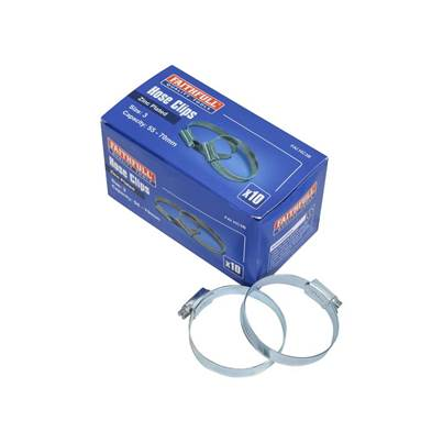 Faithfull Zinc Hose Clips