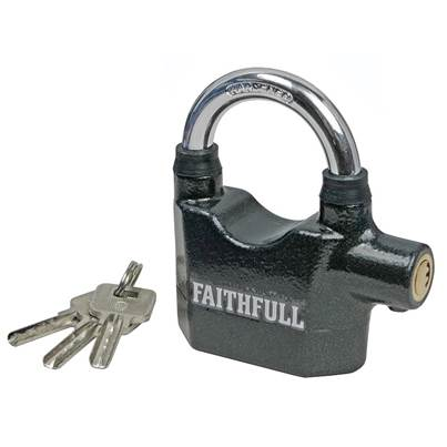 Faithfull Padlock with Security Alarm 70mm