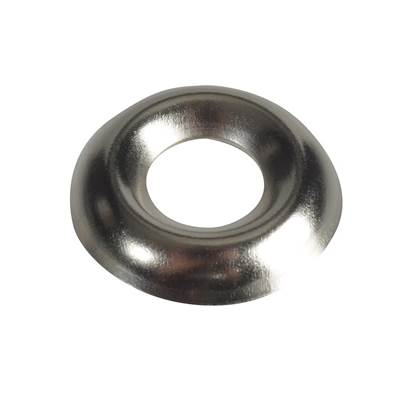 Forgefix Screw Cup Washers, Nickle Plated, Forge Pack
