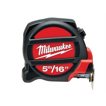 Milwaukee Non-Magnetic Pocket Tape 5m/16ft (Width 28mm)