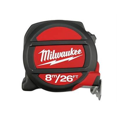 Milwaukee Non-Magnetic Pocket Tape 8m/26ft (Width 28mm)