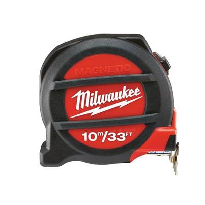 Milwaukee Magnetic Pocket Tape 10m/33ft (Width 27mm)