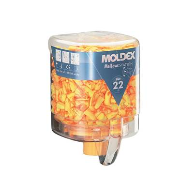 Moldex Disposable Foam Earplugs Mellows Station (250 Pairs) SNR 22dB