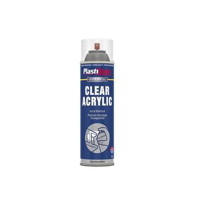 Plasti-kote Industrial Spray Clear Acrylic 500ml