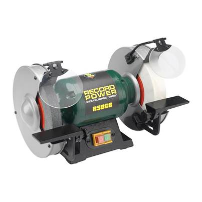 Record Power RPBG6 150mm Bench Grinder 350 Watt 240 Volt