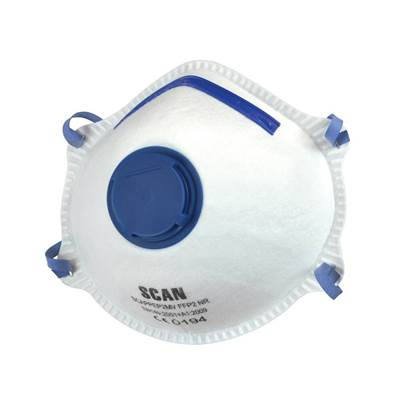 Scan Moulded Disposable MaskS Valved FFP2 Protection