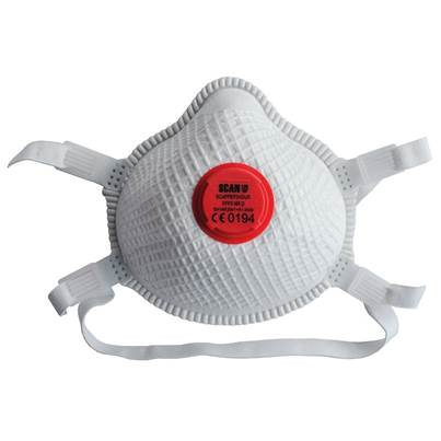 Scan Moulded Valved Masks FFP3 with Mesh (Pack of 2)
