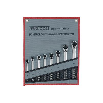 Teng Ratchet Combination Spanner Set of 8