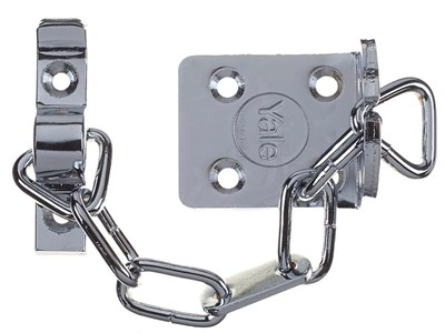 WS6 Security Door Chain - Satin Chrome Finish