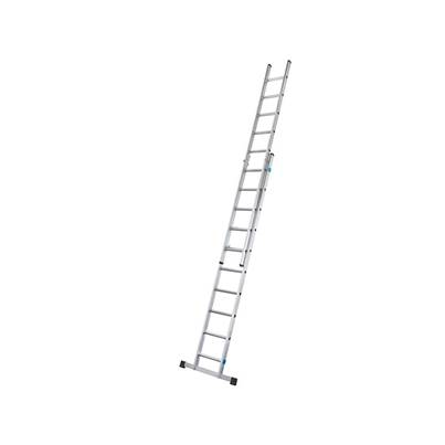 Zarges Double Extension Ladder with Stabiliser Bar 2-Part D-Rung