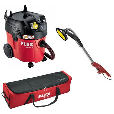 FLEX GE 5R Giraffe Wall And Ceiling Sander With VCE 35 M AC Dust Extractor 110v