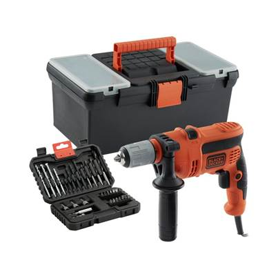 Black & Decker 600W Percussion Hammer Drill With Kit Box and 32 Piece accesory Kit