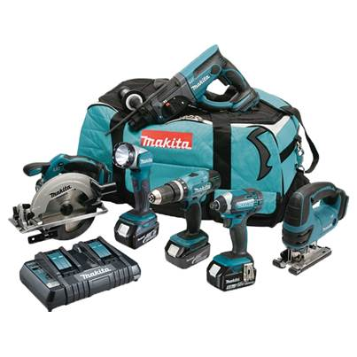 Makita DLX6068PT 18V 6PC COMBO KIT LXT 3 x 5ah