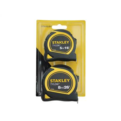 Stanley Tools Tylon Tape Twin Pack 5m/16ft & 8m/26ft