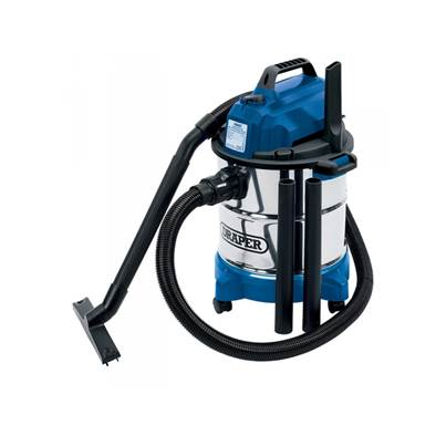 Draper 13785 20L Wet and Dry Vacuum Cleaner with Stainless Steel Tank