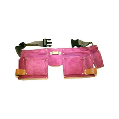 Rolson Pink Double Leather Tool Pouch