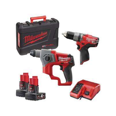 Milwaukee M12CPP2B-402C 2 Piece M12 FUEL Twin Pack