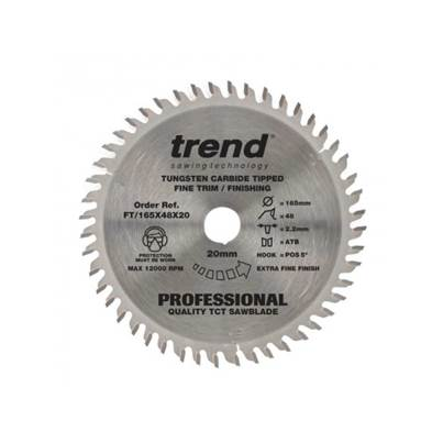 Trend 165mm TCT Professional Plunge saw Blade