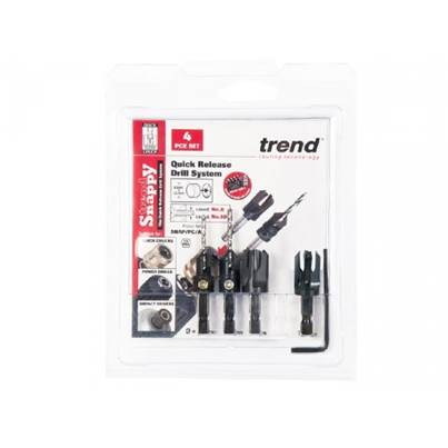 Trend Snappy 4 Piece Plug Cutter Set