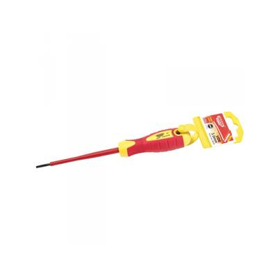 Draper 24639 Expert 3mm x 100mm Fully Insulated Plain Slot Screwdriver. (Display Packed)