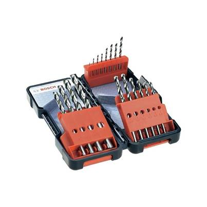 Bosch 18pc Toughbox HSS-G Metal Drill Bit Set