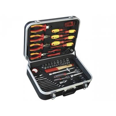 Metalworks Metalworks 855006917 68pc VDE Electricians Tool Kit in ABS Case