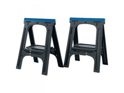 07227 760 x 570mm Pair of Fold-Down Trestles/Saw Horses