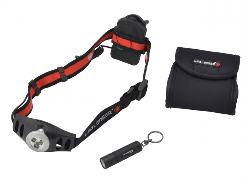 LL1025 Twin Pack With H3 Head Torch & K2 Key Light