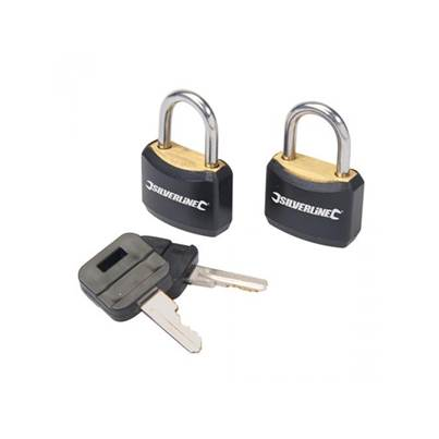 Silverline Padlock Set Keyed Alike 2pce
