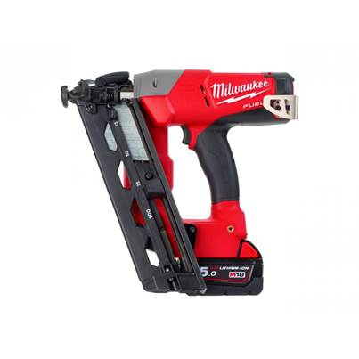 Milwaukee M18CN16GA-502X Fuel 16G Angled Nailer 18 Volt 2 X 5ah Batteries
