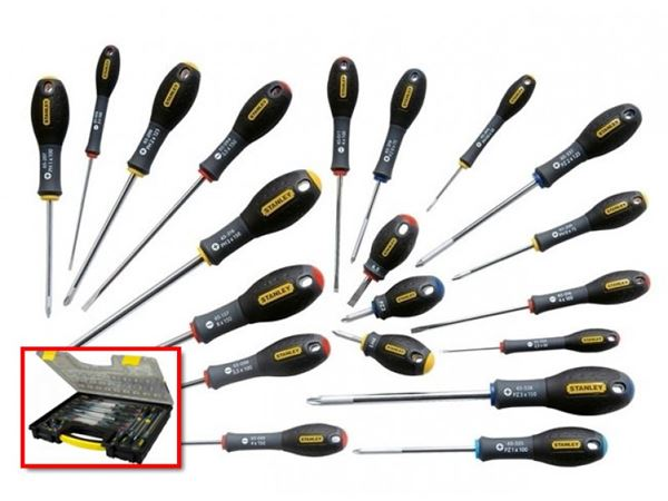 Stanley FatMax Screwdriver Set Parallel/Flared /Phillips /Pozi 20 Piece