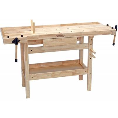 Draper 1390 x 490 x 860mm Carpenters Workbench