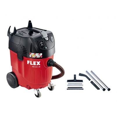 FLEX VCE 45 L AC, kit cleaning set ~ Safety vacuum cleaner with automatic filter cleaning system, 45 L, class L