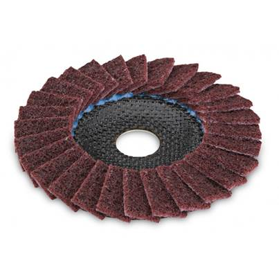 FLEX SC-VL polishing flap wheel for metal and stainless steel, cambered. 125mm, Medium Grit (5)