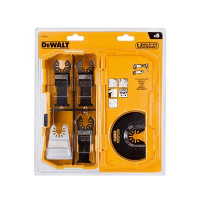DeWalt DT20715 5 Piece Oscillating Blade Set for DCS355 & DWE351 Multi Tools