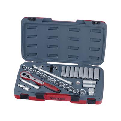 Teng T1234 34 Piece 1/2 inch Drive Metric Socket Set