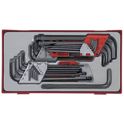 Teng TTHT28 28 Piece Metric Imperial AF Torx Hexagon Hex Allen Key Set TX