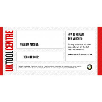 UK Tool Centre Gift Vouchers
