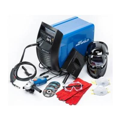 Draper 180A 230V Gas/Gasless MIG Welder Kit Stock Number 73389